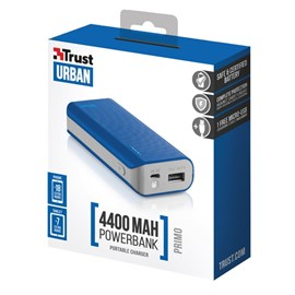TRUST URBAN 21225 4400 mAh Mavi Powerbank