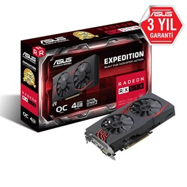 Asus Expedition Radeon RX 570 Oc 4Gb Gddr5 256Bit Dvi Hdmi DP Ekran Kartı