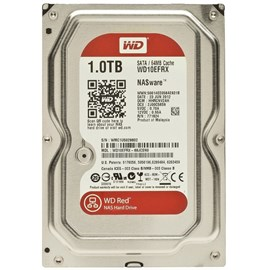 "WD Red 1TB Intellipower 3.5"" Sata 3.0 64Mb Cache WD10EFRX 7/24 Nas Disk"