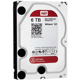 "WD Red 6TB Intellipower 3.5"" Sata3 64MB Cache WD60EFRX 7/24 Nas Disk"