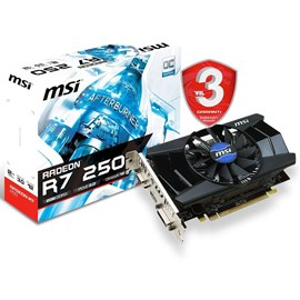 Msi AMD R7 250 2GB DDR3 128 Bit HDMI DVI (R7 250 2GD3 OCV1)