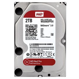 "WD 3.5"" RED PRO 2TB 7200RPM 64MB SATA3 NAS HDD WD2002FFSX (7/24)"
