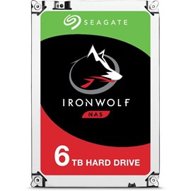 "Seagate 3.5"" IronWolf 6TB 7200RPM 128MB SATA3 195MB/S RV 180TB/Y ST6000VN0041 7/24 Nas Disk"