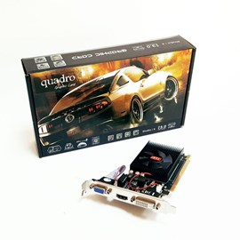 Quadro AMD R5 230 1GD3 Silent 1GB DDR3 64 Bit HDMI DVI 16X (PCIe 2.0) Low Profile